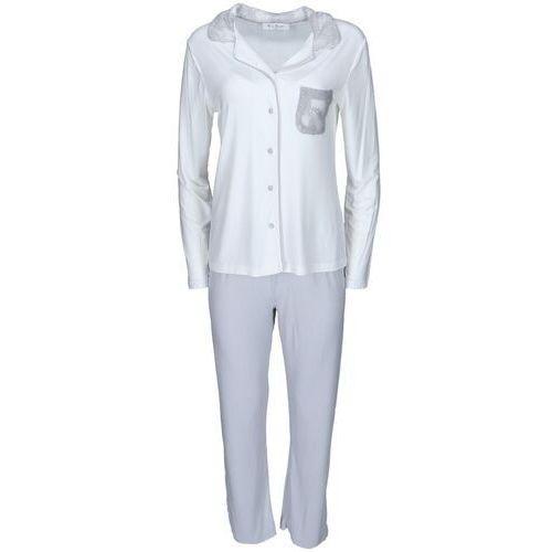 08443075dde7a9 ... Damska bambusowa piżama claudia s kremowy / srebrny marki Luisa moretti  - Zdjęcie produktu ...