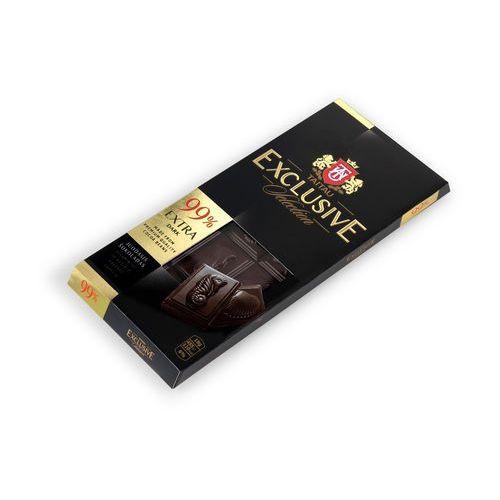 Taitau Czekolada gorzka exclusiv 99% kakao, tabliczka 90g wysokiej jakości czekolada z kakao pochodzeniem z ghany, arriby i granady