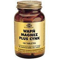 Tabletki SOLGAR Wapń, Magnez plus Cynk x 100 tabletek