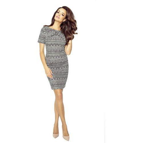 Ołówkowa sukienka z wiązaniem przy dekolcie (5902839673743)