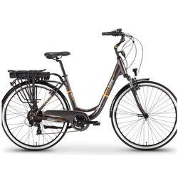 """Ecobike Rower elektryczny 28"""" city lady grey akumulator lg 10,4 ah"""