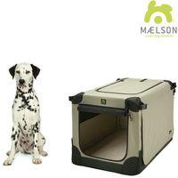 Maelson přepravka soft kennel černá / béžová vel. 82