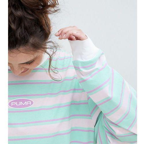 Plus exclusive organic cotton stripe long sleeve t-shirt - multi Puma