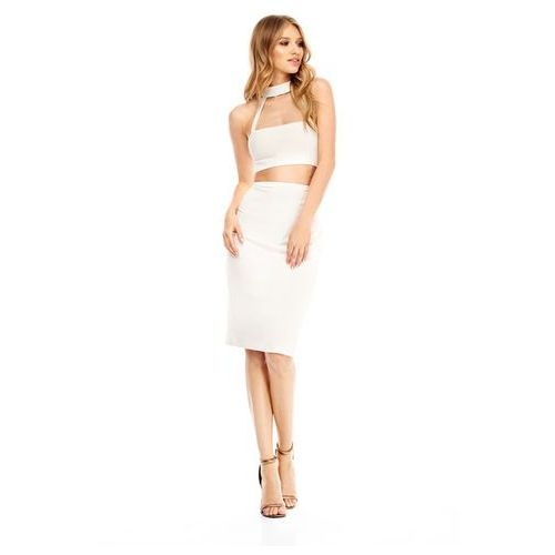Sukienka Karly w kolorze białym, kolor biały