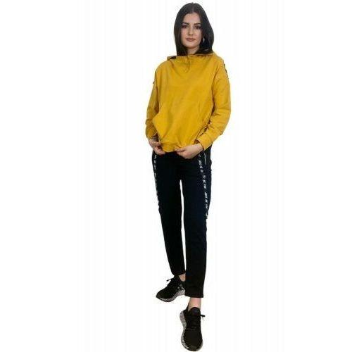 Bawełniany dres damski komplet De Lafense 496 Just żółty, kolor żółty