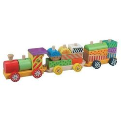 Kolorowy drewniany pociąg