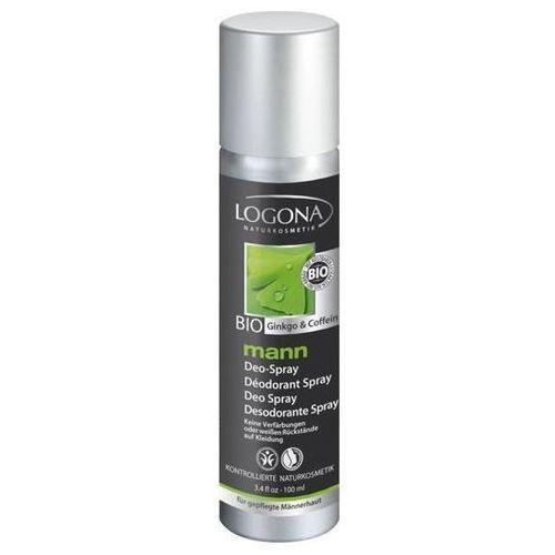 Mann Dezodorant spray z bio-miłorzębem i bio-kofeiną dla panów
