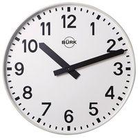 Zegar ścienny, Ø 500 mm, kwarcowy mechanizm zegarowy, z liczbami. Idealny do hal