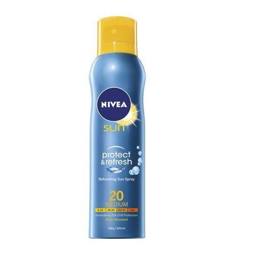 NIVEA 200ml Sun Protect & Refresh Chłodząca mgiełka do opalania w sprayu SPF 20 - Promocja