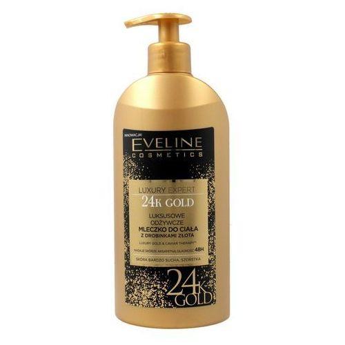 Eveline luxury expert 24k gold, 350 ml. luksusowe odżywcze mleczko do ciała z drobinkami złota - eveline od 24,99zł darmowa dostawa kiosk ruchu