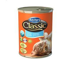 BUTCHER'S Classic z pstrągiem - kawałki w galaretce 400g + GIMCAT - przysmak dla kota 60g GRATIS!!! (5011941541373)