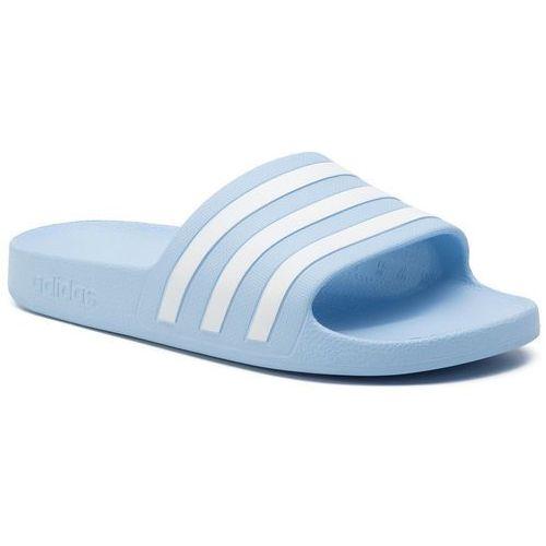 Klapki - adilette aqua ee7346 globlu/ftwwht/globlu marki Adidas