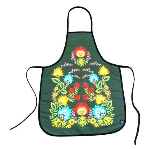 Fartuszek kuchenny z nadrukiem ludowym  kwiaty łowickie 2