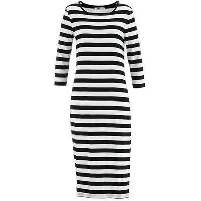 ad78b6cf26 Sukienka z rękawami 3 4 czarno-biały w paski marki Bonprix bonprix