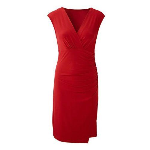Sukienka z dżerseju bonprix ciemnoczerwony