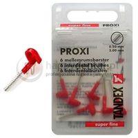 TANDEX Proxi 6 końcówek 0.50-3.0mm (CZERWONE) - pudełko 6 końcówek międzyzębowych (super-fine)