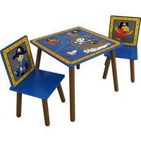 Kidsaw stół i dwa krzesła - seria Piraci