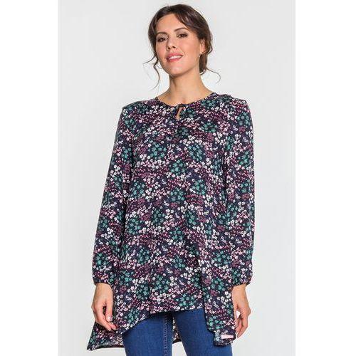 9b58c3deb58b Granatowa bluzka w kwiatki (Jelonek) opinie + recenzje - ceny w ...