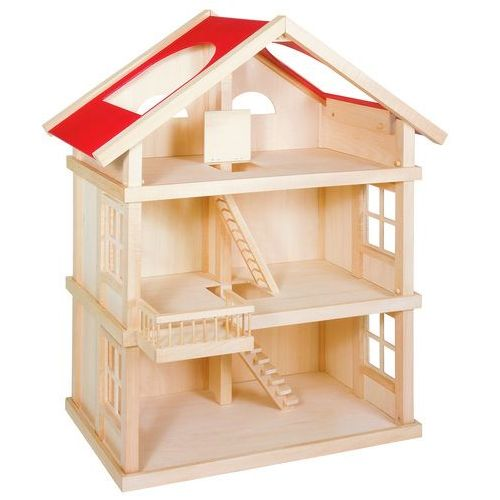 Goki Hit sprzedażowy!! wyjątkowy wielopiętrowy drewniany domek dla lalek (4013594519571)
