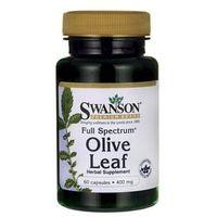 Tabletki SWANSON Liście drzewa oliwnego (Olive Leaf) 400mg, 60 tabl