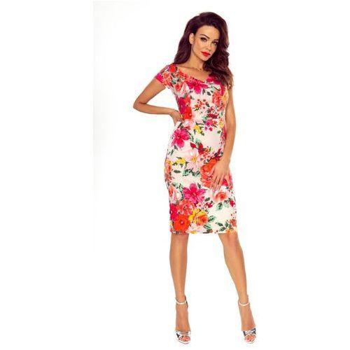 Ołówkowa sukienka koktajlowa w kwiaty, M56466_1_s