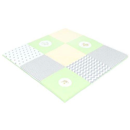 MAMO-TATO Mata podłogowa do raczkowania dla dzieci 120x120 Zielona S