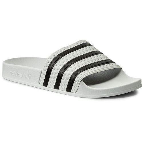 Klapki adidas - adilette 280648 White/None/White, w 9 rozmiarach