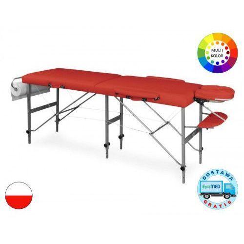 Składany stół do masażu tris lm8 aluminiowy z regulacją wysokości marki Juventas