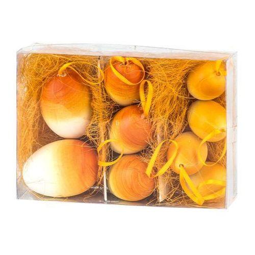Jajka wielkanocne 9 szt., pomarańczowy, hth 4home