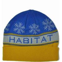 czapka zimowa HABITAT - Slope Ryl/Gold (MODRA)