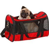 Czerwony transporter dla kota lub małego psa marki Karlie