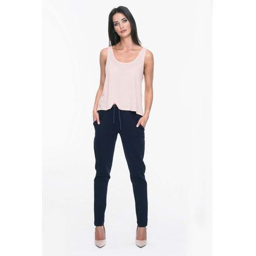 c5fe189f1ff0 Granatowe Dresowe Spodnie z Lampasami