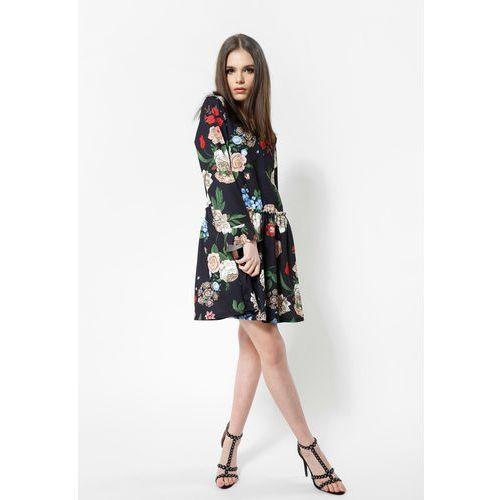 Czarno-Beżowa Sukienka Hey Girl