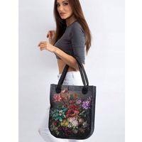 Torebka shopper bag lorenti city antracyt bukiet