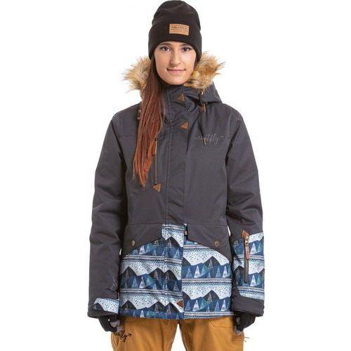 MEATFLY kurtka damska Athena Jacket Ebony Stripe/Landscape Blue XS