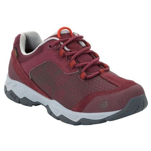 Buty podejściowe damskie rock hunter texapore low w burgundy / light grey - 5 marki Jack wolfskin