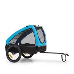 Klarfit husky, przyczepka rowerowa do przewozu psów, ok. 250 l, płótno oxford 600d, niebieski
