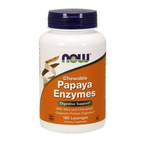 Now Foods Papaja Enzymy 180 tabletek do ssania