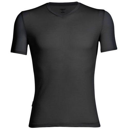 Icebreaker anatomica koszulka v-neck mężczyźni, black/monsoon m 2019 podkoszulki z krótkim rękawem