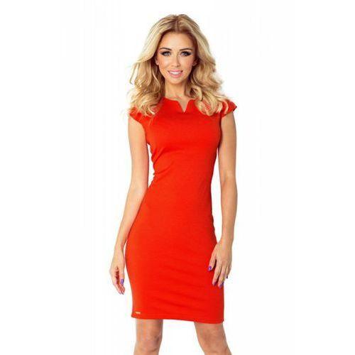 132-4 sukienka z dziubkiem - pomarańczowa, Numoco
