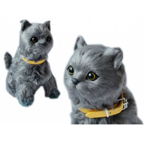 Askato Maskotka kotek interaktywny szary