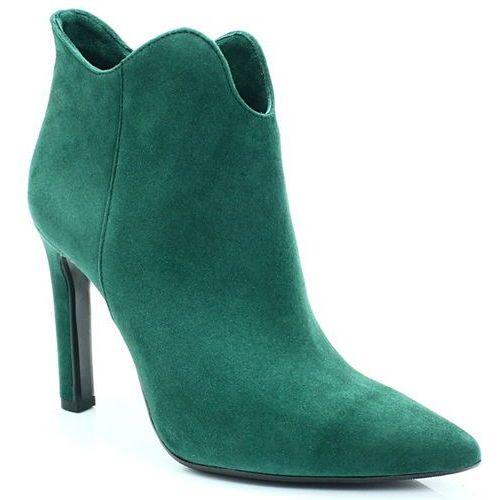 2109 zielone - botki na szpilce - zielony, Bravo moda