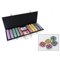 Zestaw do Pokera...: 500 Żetonów USD ($) + Kości + Karty + Walizka...,