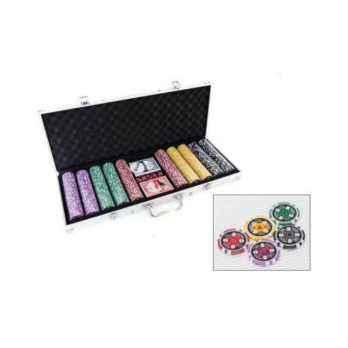 Cutesunlight toys factory Zestaw do pokera...: 500 żetonów usd ($) + kości + karty + walizka