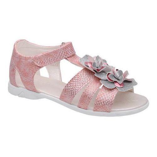 Sandałki dla dziewczynki 4967 różowe srebrne - różowy ||srebrny marki Kornecki