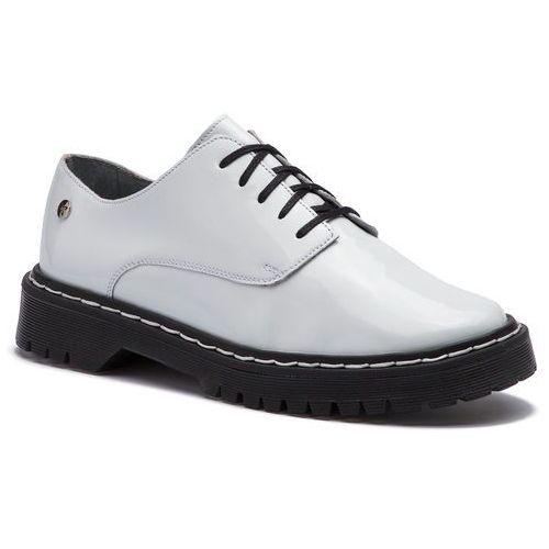 Oxfordy MACIEJKA - 04087-11/00-5 Biały Lakier, kolor biały