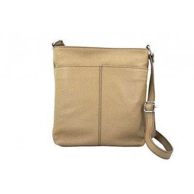 f4c84d9fde70a Listonoszki - torby damskie ze skóry naturalnej - beżowy marki Barberini's  Arturo