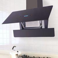 okap kuchenny z dotykowym wyświetlaczem, 900 mm, czarny marki Vidaxl
