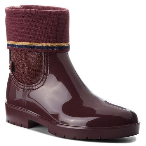 83534ed694cf0 Tommy Hilfiger Tommy hilfiger Kalosze - knitted sock rain bo fw0fw03565  decadent chocolate 296