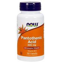 Witaminy NOW Foods Pantothenic Acid 500mg 100 kaps KWAS PANTOTENOWY WITAMINA B5 Najlepszy produkt